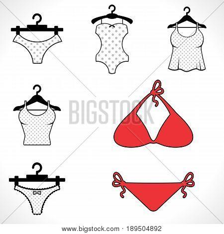 Swimsuits Or Bikini Icon