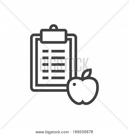 Isolted Regime Outline Symbol On Clean Background. Vector Diet Element In Trendy Style.
