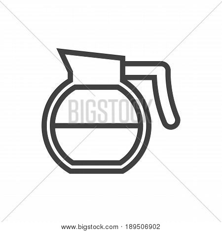 Isolted Teapot Outline Symbol On Clean Background. Vector Coffeepot Element In Trendy Style.