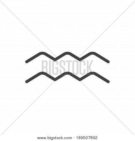 Isolted Water Bearer Outline Symbol On Clean Background. Vector Aqurius Element In Trendy Style.