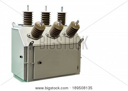 modern industrial module for commercial electricity metering closeup