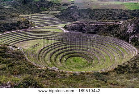 Inca Agricultural research station Moray Peru, South America