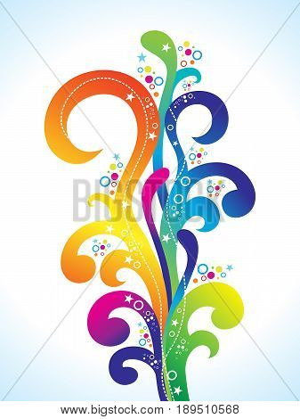 abstract artistic colorful rainbow smoke vector illustration