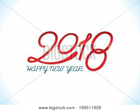 abstract artistic glossy new year text vector illustration