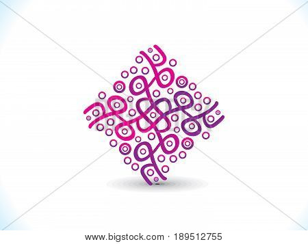 abstract artistic detailed creative square vector illustration