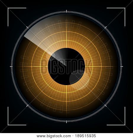 Technology Digital Future Abstract Radar Screen Looking Eye Background