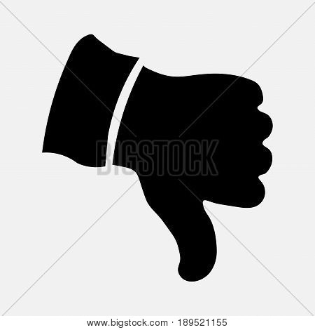 thumb down icon an icon of art image to web sites and applications fully editable vector image
