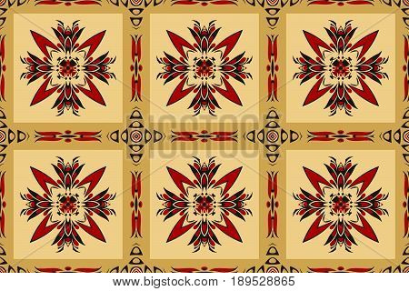 Vintage geometric symmetric rounded pattern. abstract retro texture for wallpapers on a yellowr background
