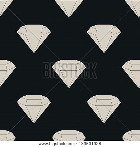 Seamless texture diamonds diamonds on a gray background background for printing on fabric, fully editable vector image