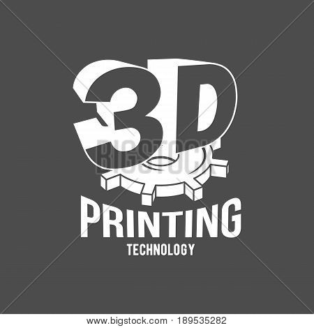 3D printer vector icons logotype badge and design elements