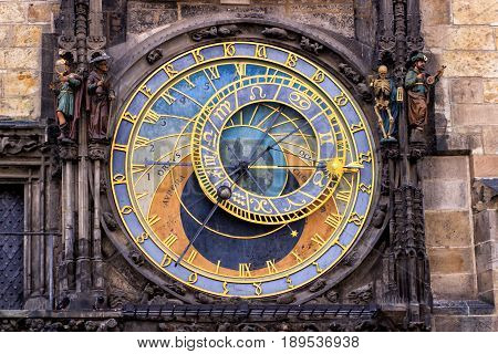 Prague Astronomical Clock in the Old Town of Prague.