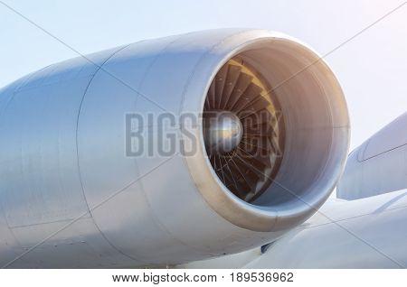 Engine Turbo Fan Long Engine Aircraft.