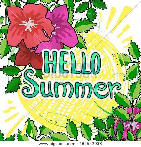 Phrase Hello Summer