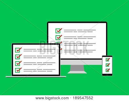Social   poll  web internet  test form vector illustration