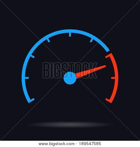 speed test vector  circle illustration  internet download speed