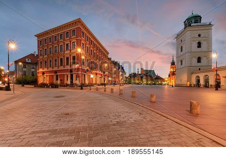 Warsaw kingsroad at sunrise in Poland Europe