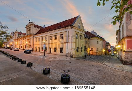 Warsaw kingsroad at sunset in Poland Europe