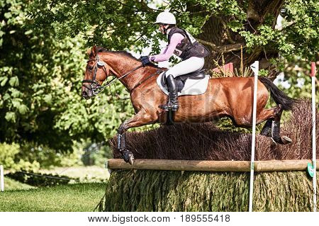 Houghton International Horse Trials Becky Woolven Riding Dhi Babette K