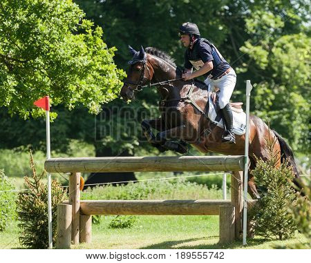 Houghton International Horse Trials Greg Kinsella Riding Watermill Rocks