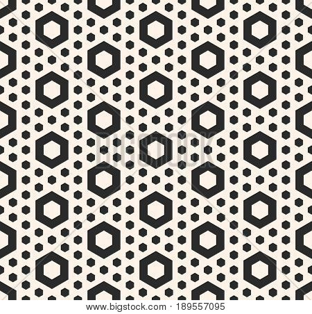 Vector hexagonal texture, geometric seamless pattern, perforated hexagon shapes simple figures background. Abstract endless background. Stylish design element for prints, textile, furniture, fabric texture, decor, table cloth, print shop