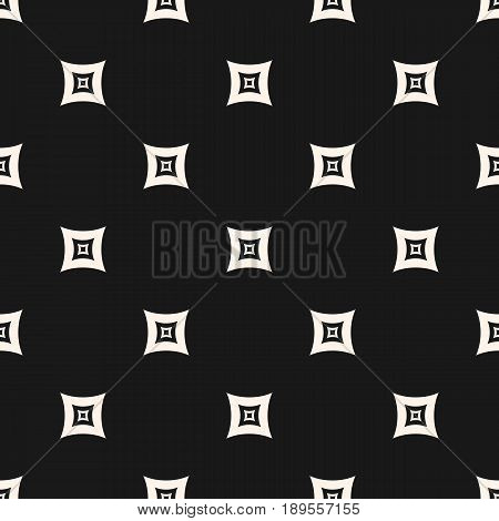 Monochrome seamless pattern, geometric vector texture, smooth outline squares staggered array background. Subtle abstract background repeat tiles. Dark modern design for prints, decor, digital repeating pattern, web background texture, cover design