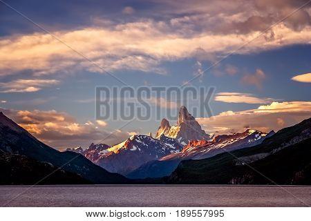 Stuning and impressive Mount Fitz Roy near El Chalten In Patagonia Argentina