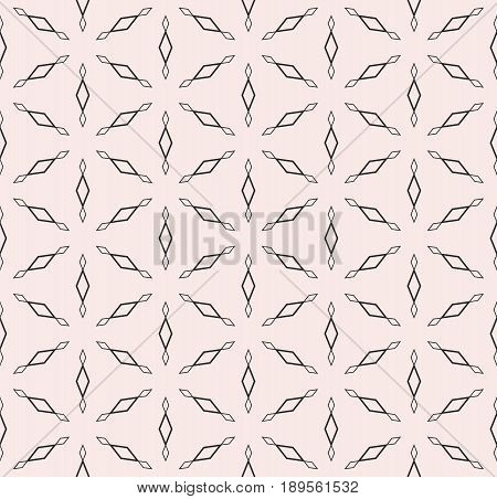 Subtle monochrome texture, vector seamless pattern. Modern minimalist background with simple geometric figures, outline rhombuses triangular grid repeat tiles. Design for prints seamless pattern, decor background, fabric texture, web