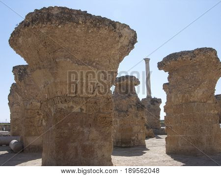 Carthage Tunis historical baths and grave tombs