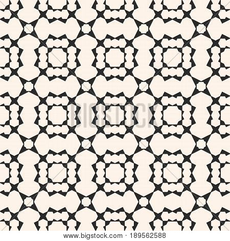 Vector seamless pattern, black & white geometric background, simple angled figures polygons abstract texture. Square ornamental illustration, monochrome geometrical mosaic pattern. Abstract endless texture, repeat tiles background vintage