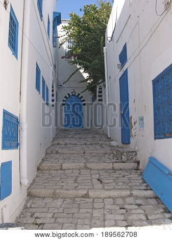 Sidi Bou Said a traditional village in Tunis