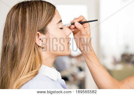 Attractive Woman At A Beauty Salon