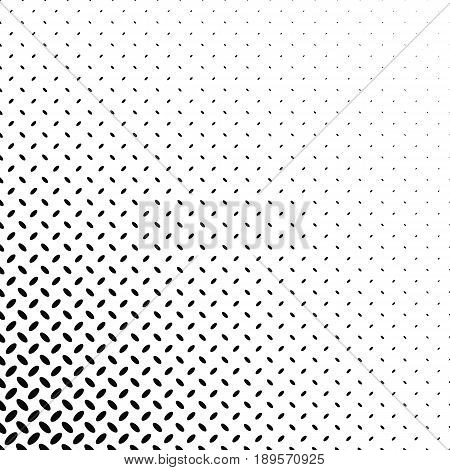 Abstract monochrome diagonal ellipse pattern background - vector illustration
