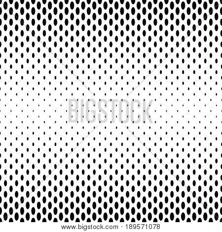Black and white abstract ellipse pattern background