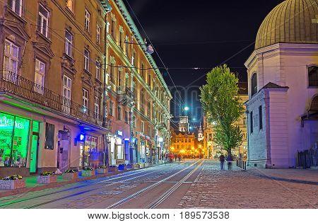 The Night Walk In Lvov