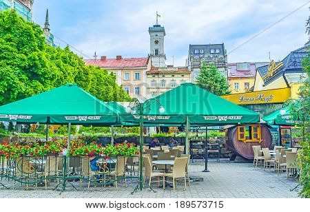 The Outdoor Cafe In Lvov