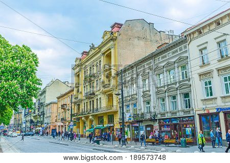 Freedom Avenue In Lvov