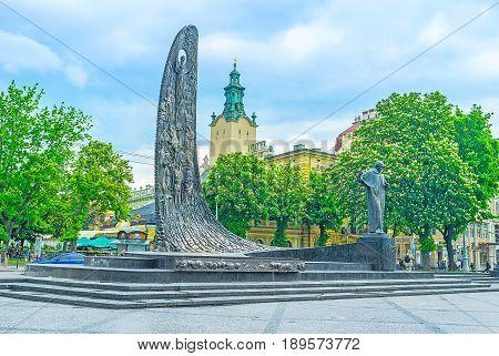 Taras Shevchenko Monument In Lvov