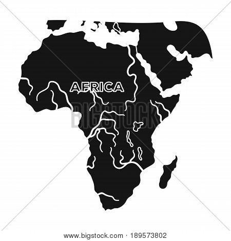 Territory of Africa.African safari single icon in black style vector symbol stock illustration .