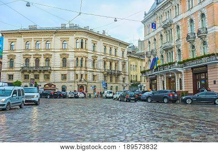 Adam Mickiewicz Square In Lvov