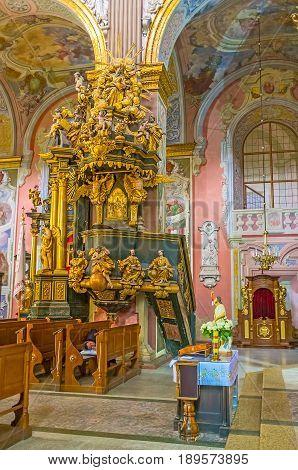 In St Andrew's Church Of Lvov
