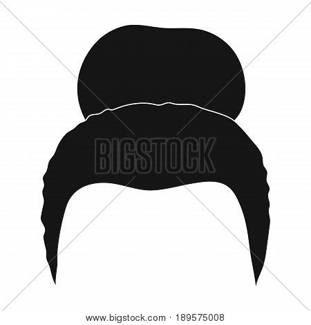 Blond hair with a shingle.Back hairstyle single icon in black style vector symbol stock illustration .