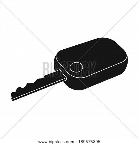 Car key.Car single icon in black style vector symbol stock illustration .