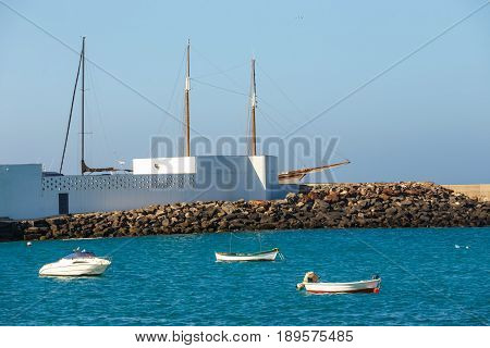 Boats And Yachts In Rubicon Marina, Lanzarote, Canary Islands, Spain