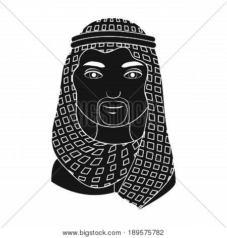 Arab.Human race single icon in black style vector symbol stock illustration .