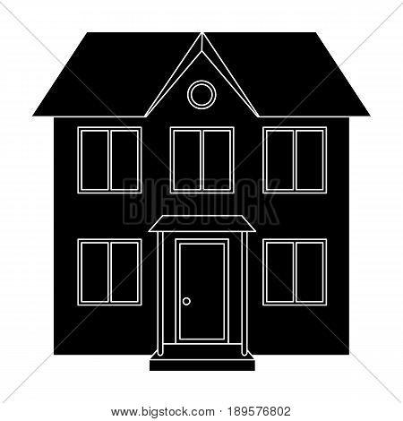 Private cottage.Realtor single icon in black style vector symbol stock illustration .