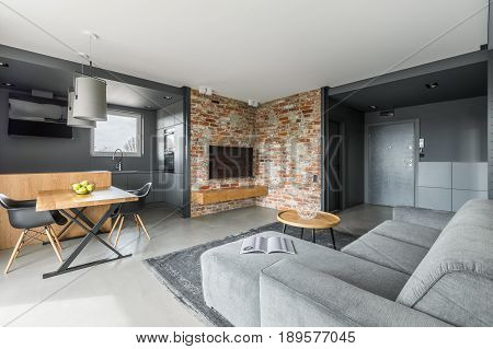 Gray And White Apartment