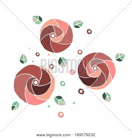 Set of vector hand drawn childish flowers Cute childlike Doodle sketch cartoon style. Line drawing. Graphic illustration