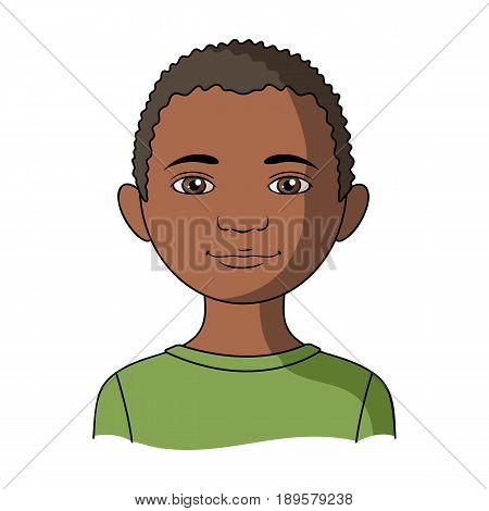 African.Human race single icon in cartoon style vector symbol stock illustration .