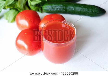Fresh tomato juice and vegetables tomatoes tasty