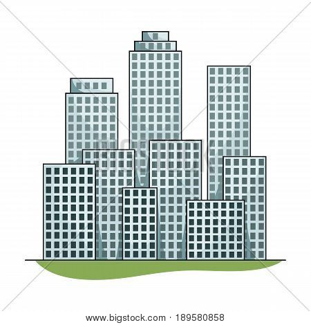 Metropolis.Realtor single icon in cartoon style vector symbol stock illustration .